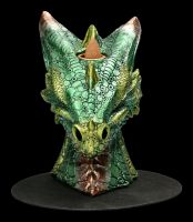 Backflow Räucherhalter - Grüner Drachenkopf groß