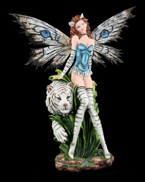 Large Fairy Statue - Tiger Lily white