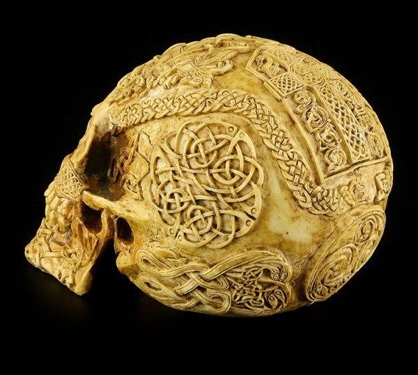 Skull with Celtic Symbols