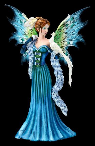 Fairy Figurine - Pavora with white Peacock
