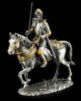 Pewter Knight Figure - German with Sword and Horse