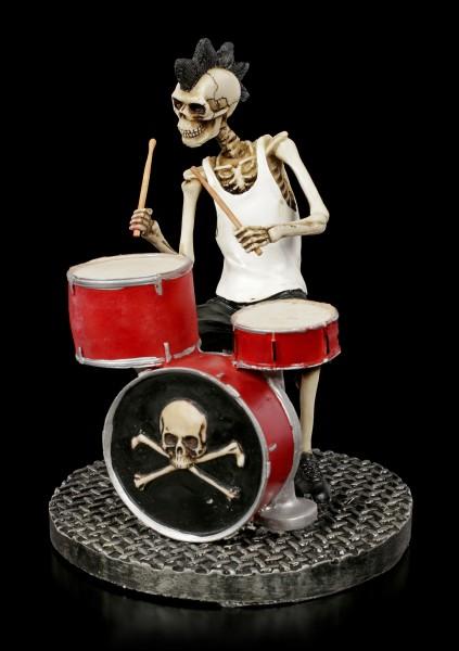 Skeleton Figurine - Rock Star Drummer