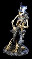 Skeleton Figurine Rocker with Guitar - Play Dead