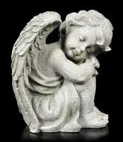 Engel Gartenfigur - Kind schlafend rechts - klein