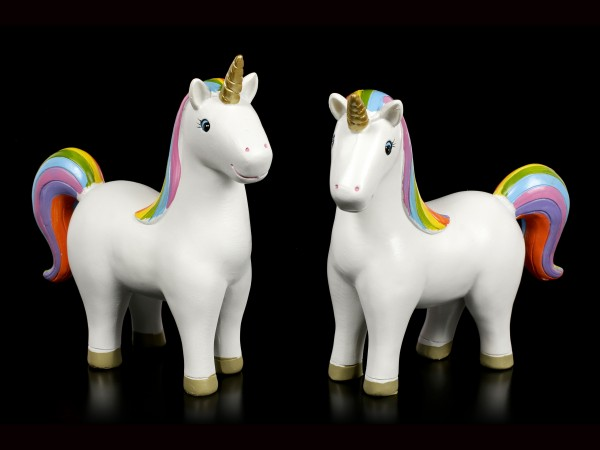 Rainbow Unicorn Figurines - Set of 2