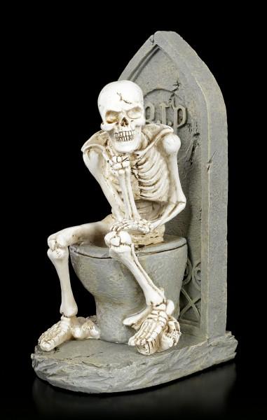 Skeleton Figurine - Thinker on Toilet