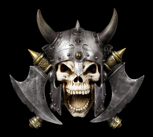 Wall Ornament Viking Skull - Valhalla's Vengeance