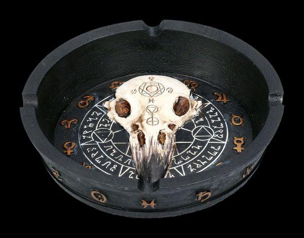 Ashtray Raven Skull - Mystic Arts