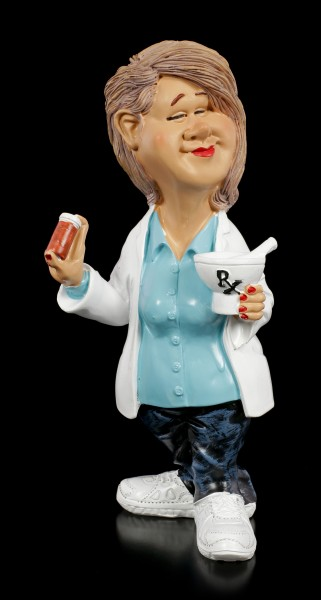 Funny Job Figur - Apothekerin mit Tablettendose