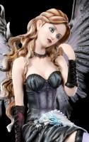 Large Fairy Figurine - Ruti sitting with Dragon