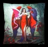 Kissen mit Engel und Drachen - Dragon Mistress
