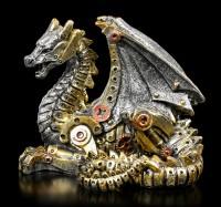 Steampunk Drachen Figur - Mechanical Hatchling