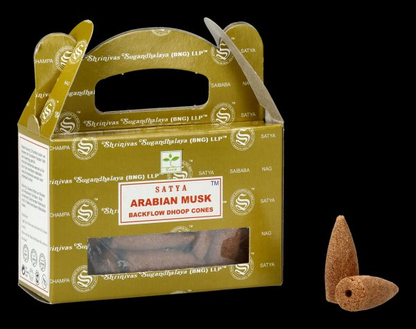 Backflow Incense Cones - Arabian Musk by Satya