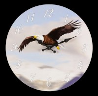 Clock with Eagle