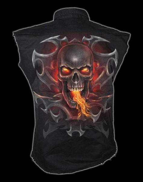 Ärmelloses Worker Shirt - Fire Dragon
