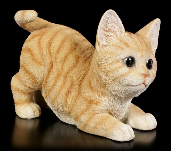 Baby Cat Figurine - Playing Orange Tabby