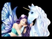 Elfen Figur mit Einhorn - Belle