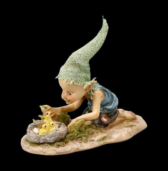 Pixie Goblin Figurine with Chicks