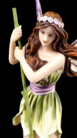 Fairy Figurine - Charona on Leaf Boat