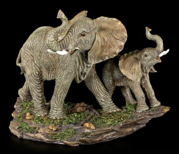 Elefanten Figur - Mama und Kind