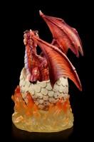 Drachen Figur - Feuerdrache Glutarios schlüpft aus Ei