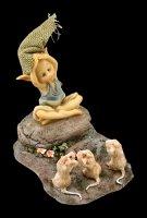 Pixie Kobold Figur - 3 Mäuse beim Yoga