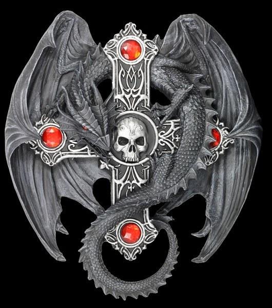 Drachen Wandrelief - Gothic Guardian