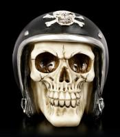 Skull with Motorcycle Helmet