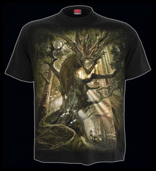 Spiral Drachen T-Shirt - Dragon Forest