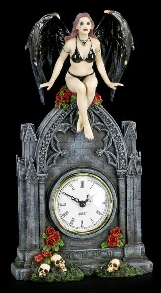 Table Clock - Vampiress Dark Angel