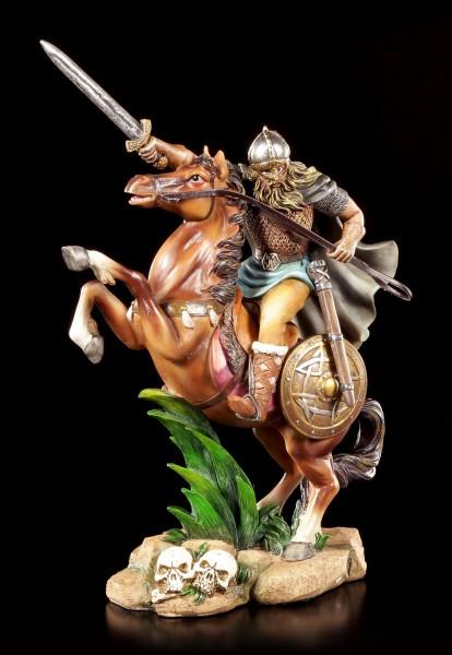 Wikinger Figur - Krieger auf Pferd