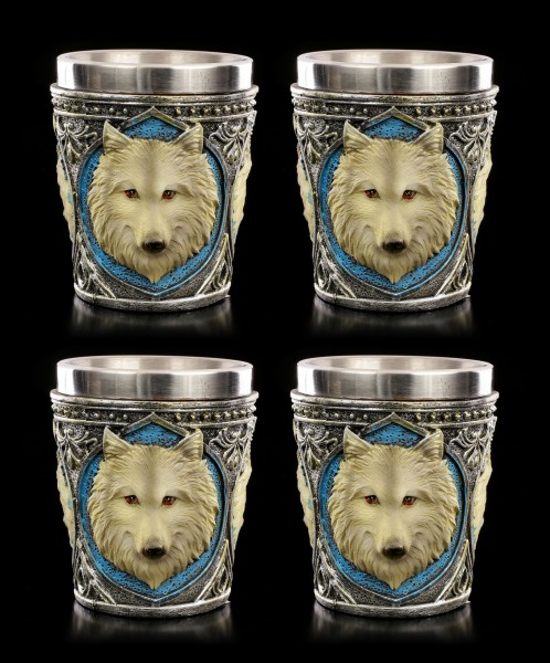 Lone Wolf Shot Cups - Set of 4
