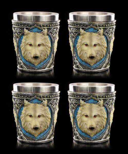 Lone Wolf Schnapsbecher - 4er Set