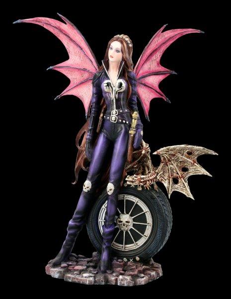 Fairy Figurine - Naira with Skeleton Dragon