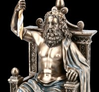 Zeus Figurine - God Father on Throne with Lightning