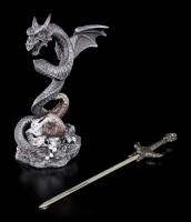 Brieföffner - Drache windet sich um Schwert