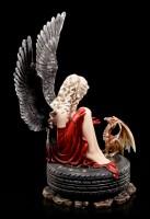 Dark Angel Figur - Cariel auf Autoreifen mit Drache