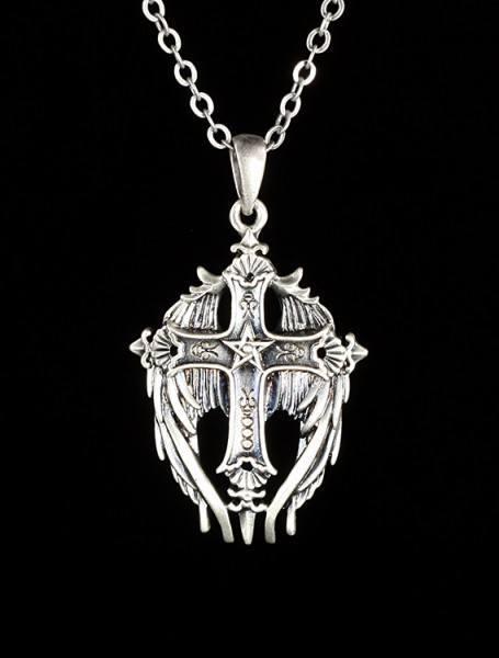 Halskette - Geflügeltes Kreuz