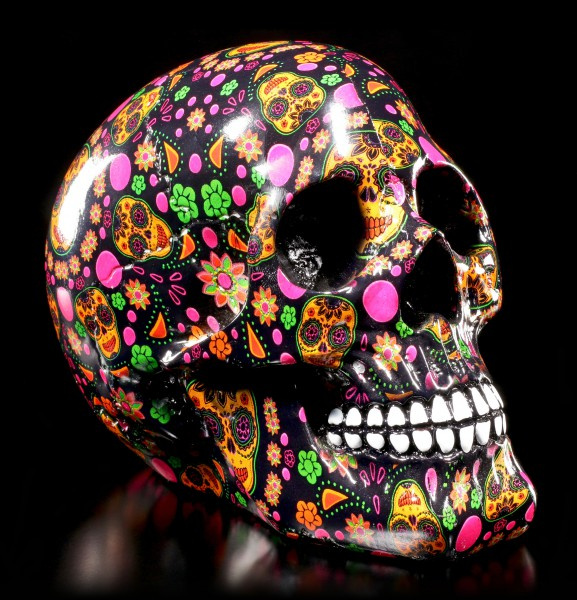 Colourful Day of the Dead Skull - VIVA!