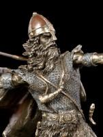 Wikinger Figur mit Speer kämpfend