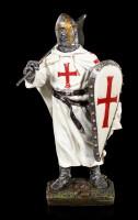 Kreuzritter Figur mit Schild und Fahne