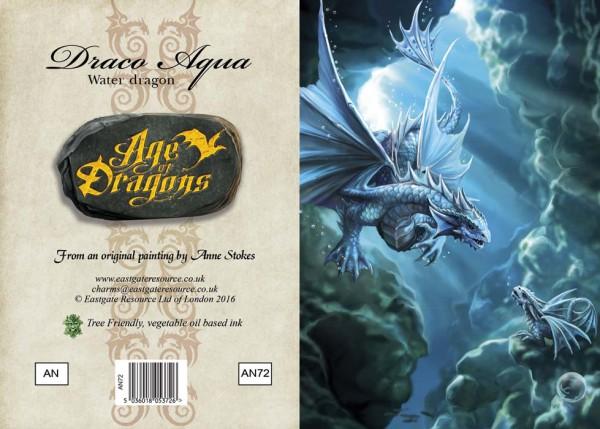 Drachen Grußkarte - Age Of Dragons - Water Dragon