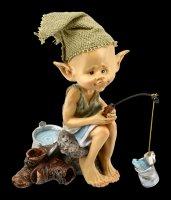 Pixie Kobold Figur - Angler Petri Heil