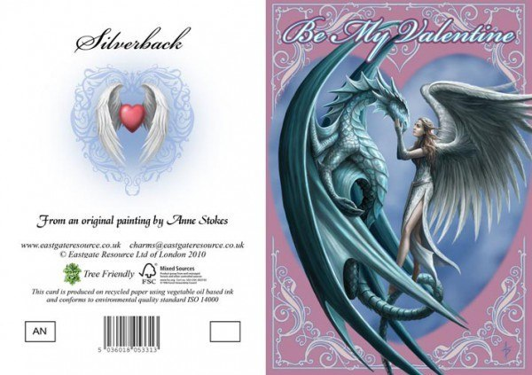 Valentinskarte Drache & Engel - Silverback