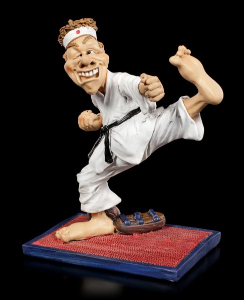 Funny Sports Figurine - Karate Fighter with black Belt