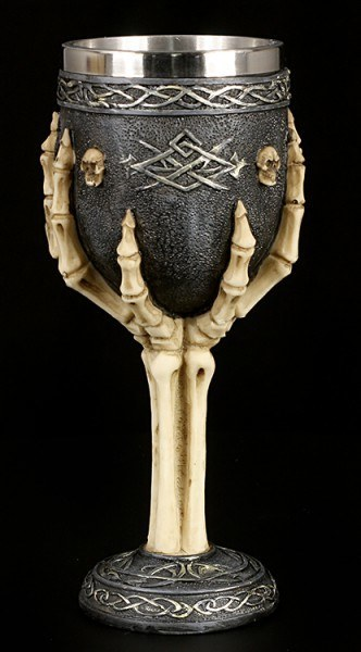 Skeleton Hands Goblet with Tribals