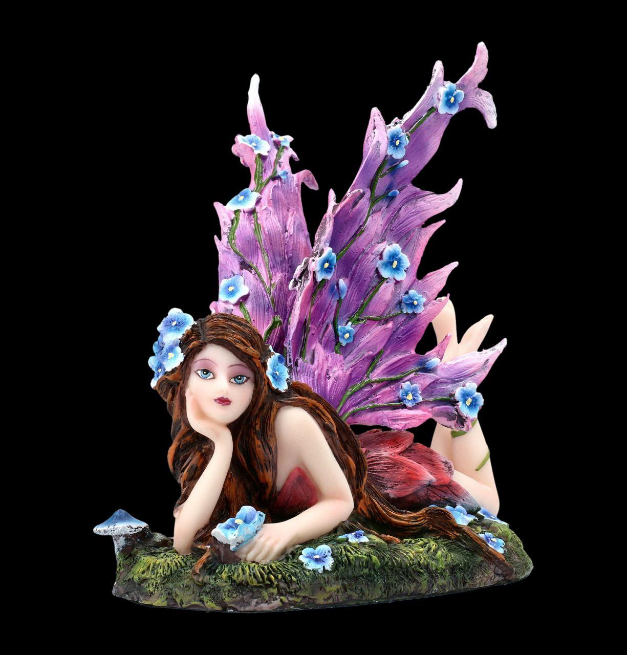 Fairy Figurine - Ara with Wings of Flowers