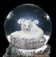 Schneekugel mit Wolf - Guardian of the North