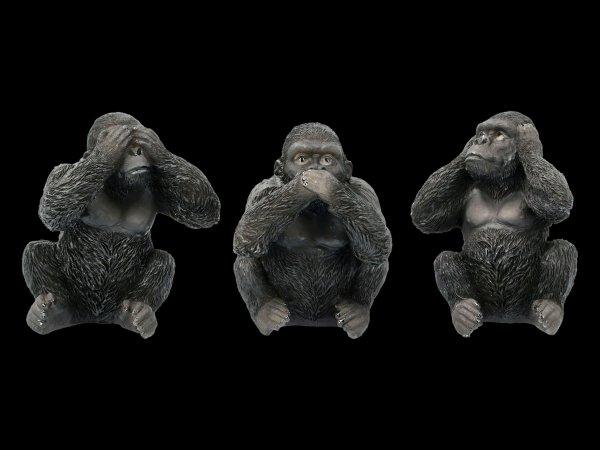 Drei weise Gorillas Figuren - Nichts böses