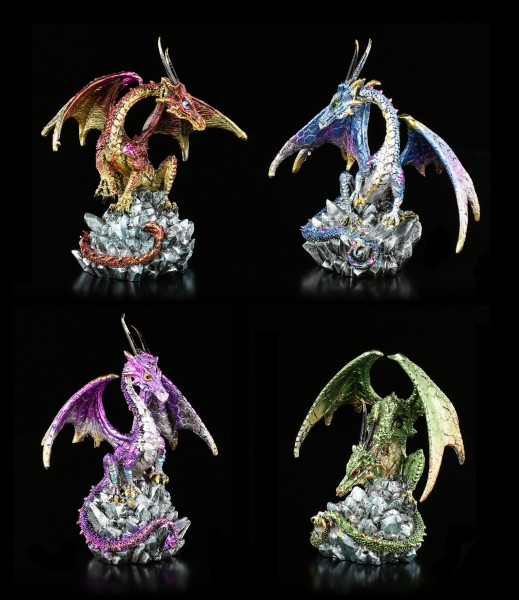 Drachen Figuren - Hoard Collectors - 4er Set